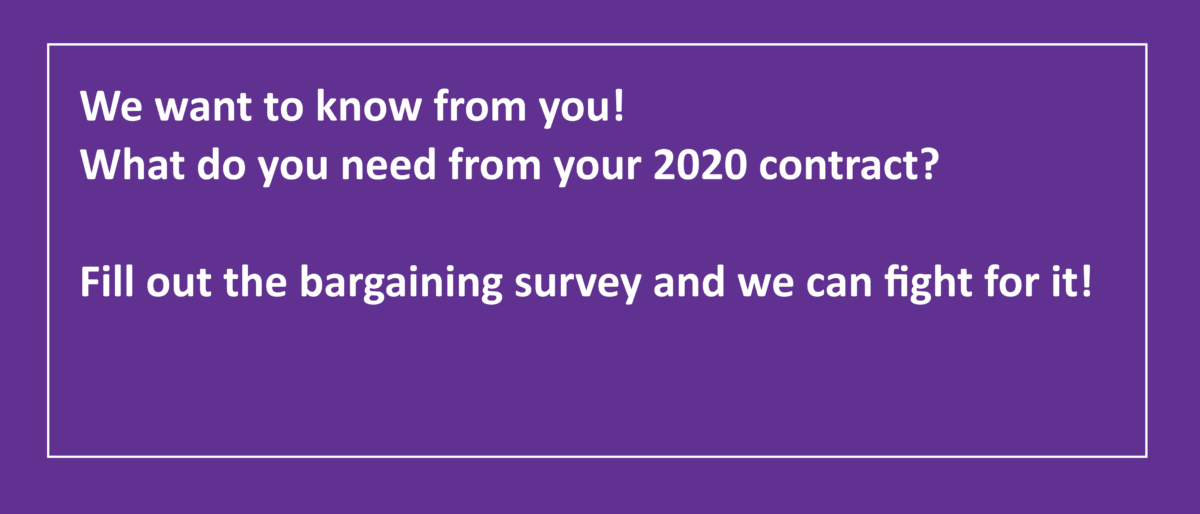 Permalink to: 2020 Contract Campaign Bargaining Survey