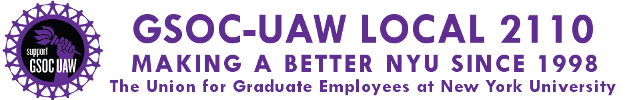 GSOC-UAW Local 2110 | The Union for Graduate Employees at New York University