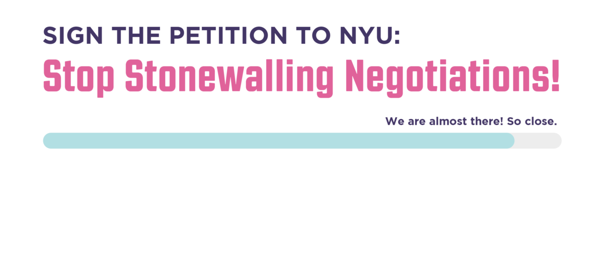 Permalink to: Petition to NYU: Stop Stonewalling Negotiations!
